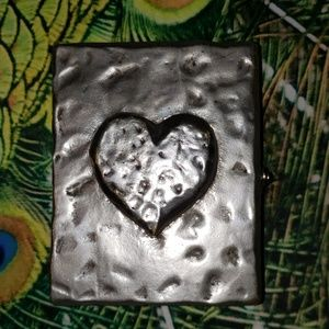 Vintage ~Silver Heart Picture Frame
